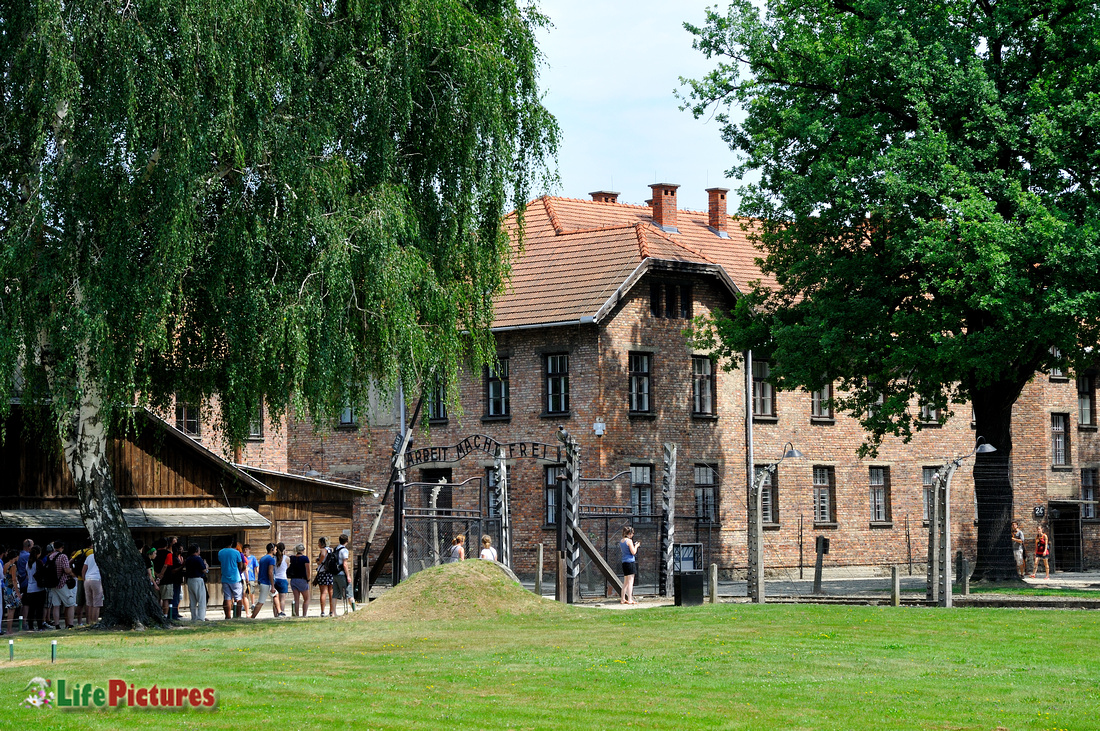 Auschwitz Museum, entrance to the concentration camp