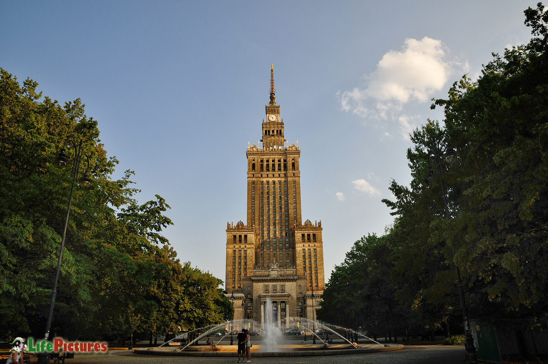 The beautiful Palace of Science and Culture