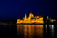 Budapest, the Parliament by night