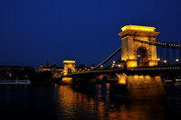Budapest, another view of the beautiful Chain Bridge