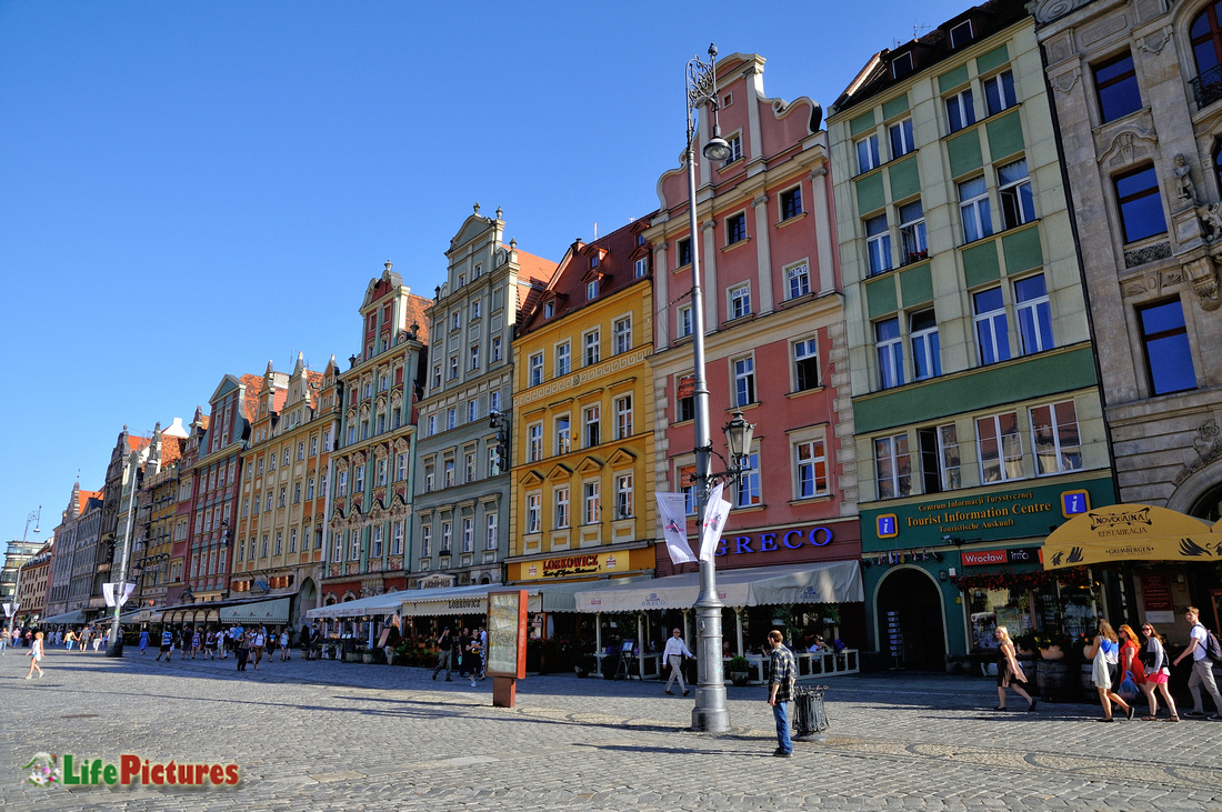 Breslavia, the beautiful houses of the old city