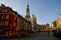 Poznan, the old market square with the town hall